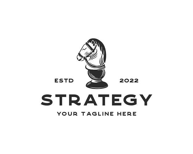 Vintage klassisches abzeichen emblem schachclub schachturnier