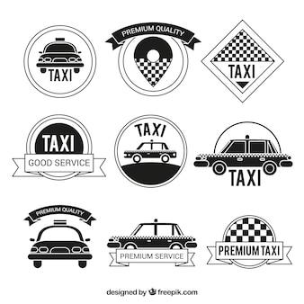 Vintage-kollektion von taxi-abzeichen