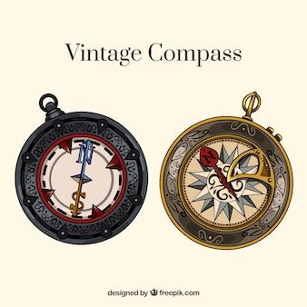 Vintage kompass sammlung