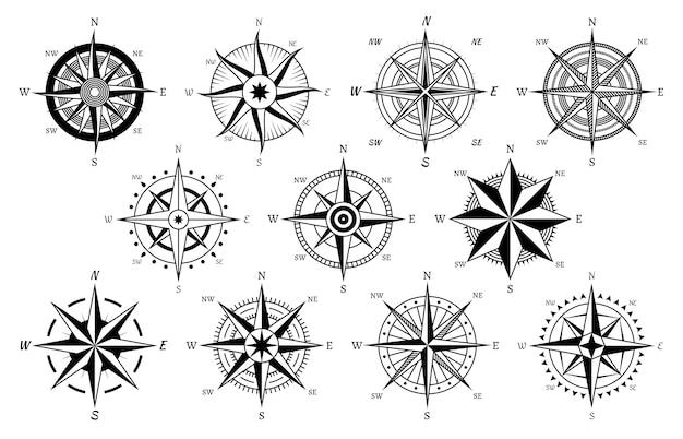 Vintage kompassillustration