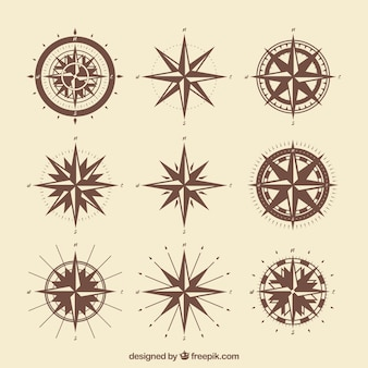 Vintage kompasspackung