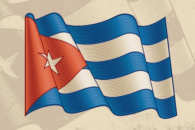 Vintage kubanische flagge