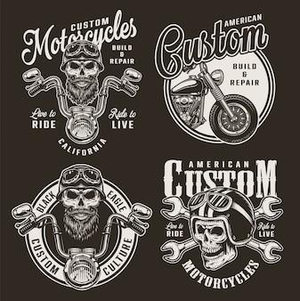 Vintage kundenspezifische motorradabzeichen