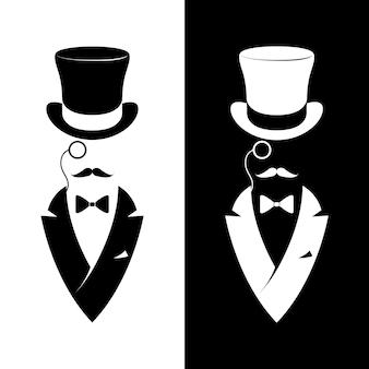 Vintage label gentlemen club