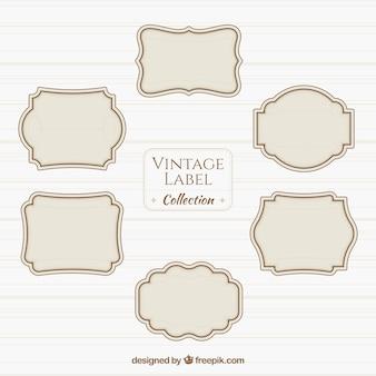Vintage-label-sammlung