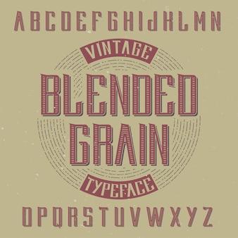 Vintage label schrift namens reading.