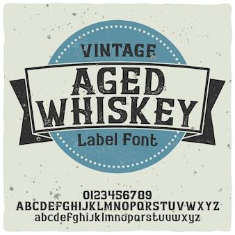 Vintage label schrift namens whiskey. gute handgefertigte schrift.