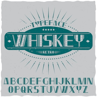 Vintage label schrift namens whiskey.
