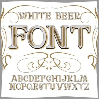 Vintage label schriftart bierstil