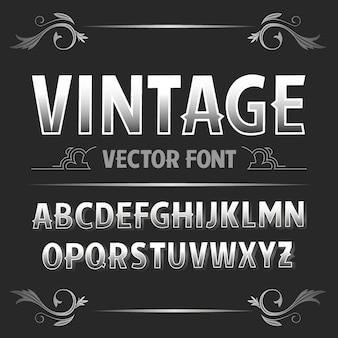 Vintage label schriftart retro schriftart