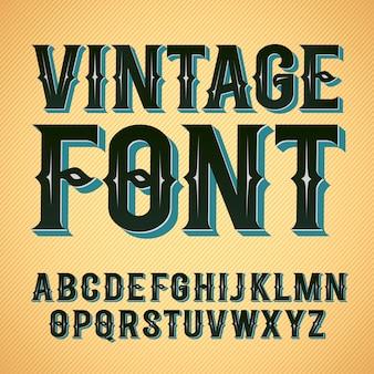 Vintage label schriftart