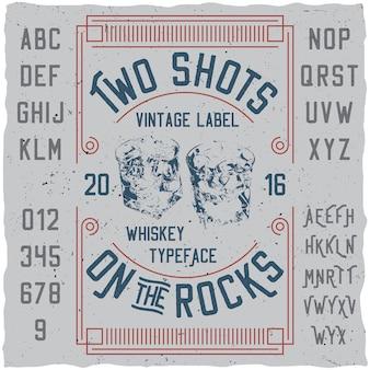 Vintage label whisky poster