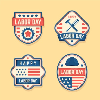 Vintage labor day label set