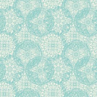 Vintage lace nahtlose muster. orientalische mandala nahtlose textur