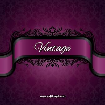 Vintage lila etikett