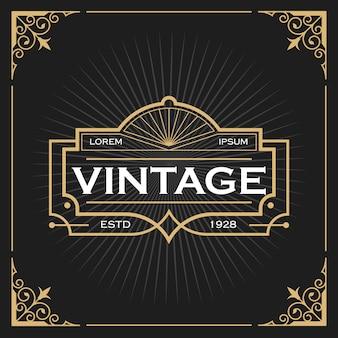 Vintage linienrahmen für etiketten