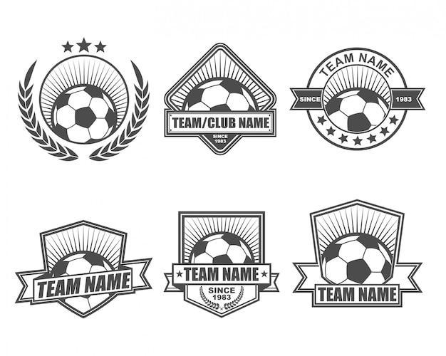 Vintage logo collection set für fußballmannschaft