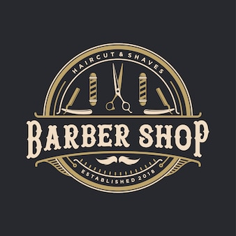 Vintage logo des friseursalons