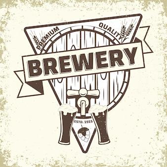 Vintage logo-design der brauerei