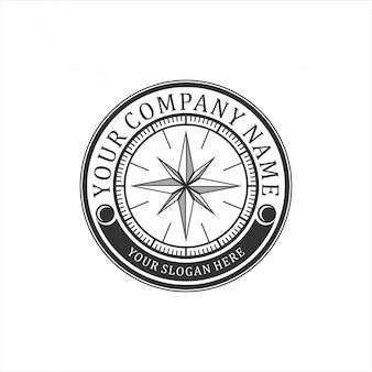 Vintage logo für kompass
