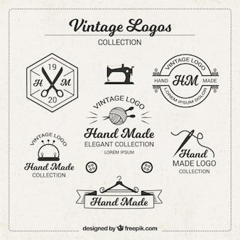 Vintage-logos für das handwerk