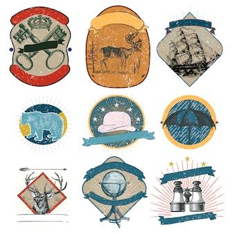 Vintage logos sammlung