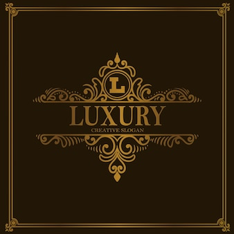 Vintage luxury logo floraler ornament-stil
