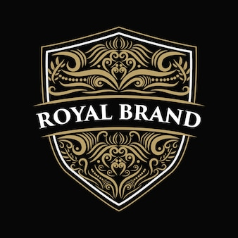 Vintage luxus grenze grenze antike logo logo rahmen etikett hand gezeichnete gravur retro geeignet für handgefertigte bier, weinhandlung und restaurant