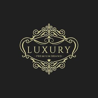 Vintage luxus logo sammlung design