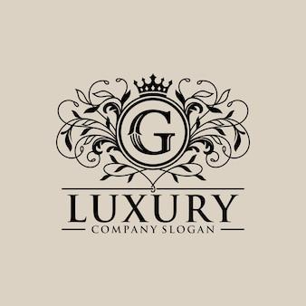 Vintage luxus-logo