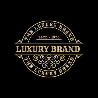 Vintage luxusmarke logo label premium