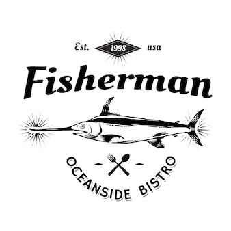 Vintage marine logo
