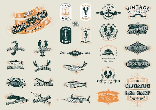 Vintage marine logos