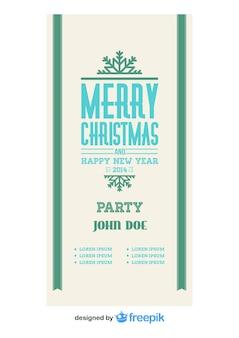 Vintage merry christmas banner