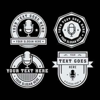 Vintage mikrofon logo