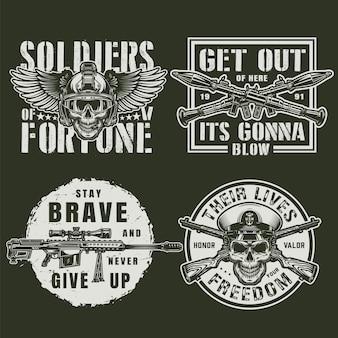 Vintage militärabzeichen