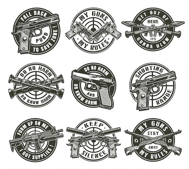 Vintage militärische etiketten