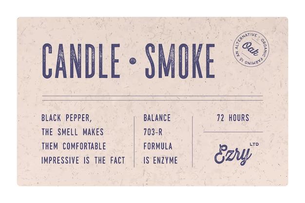 Vintage minimal label. satz grafisches modernes weinleseetikett, etikett