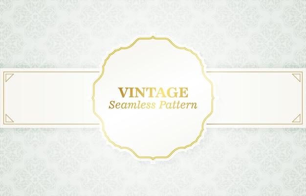 Vintage mit ornament-muster-hintergrund