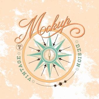 Vintage-modell-logo-design-vektor