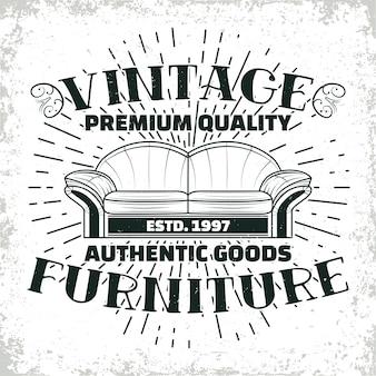 Vintage möbel werkstatt logo designs