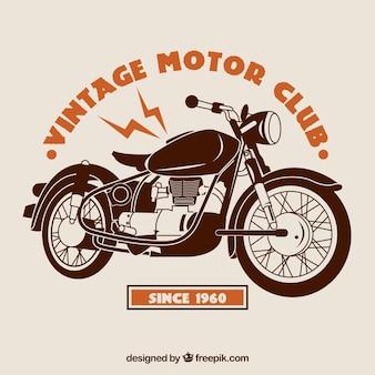 Vintage-motor club hintergrund