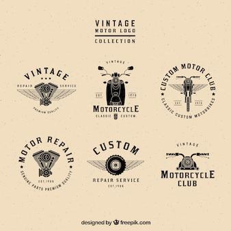 Vintage-motor logos sammlung