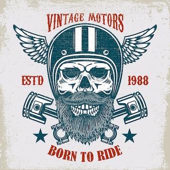 Vintage motoren emblem