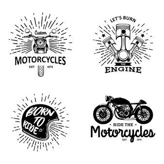 Vintage motorrad club abzeichen