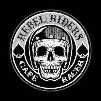 Vintage motorrad logo vorlage