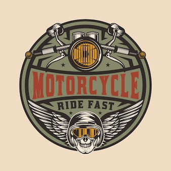 Vintage motorrad reparatur logo