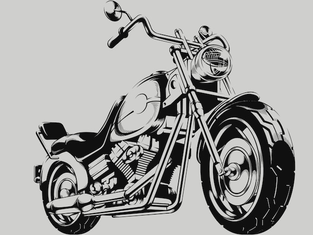 Vintage motorrad silhouette