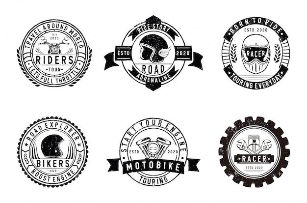 Vintage motorräder club abzeichen