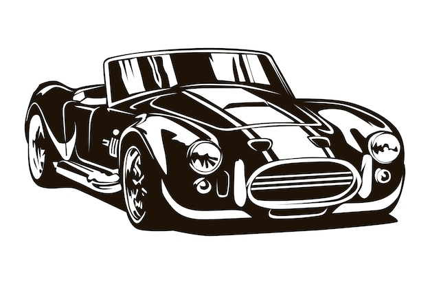 Vintage muscle cars inspirierte cartoon-skizze.